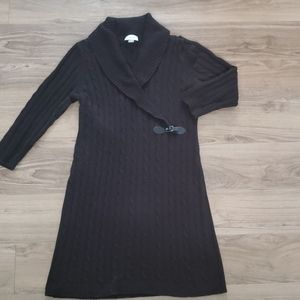Calvin Klein Black Cable Knit Sweater Dress